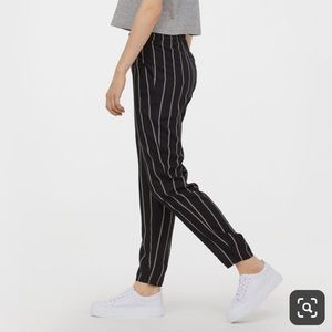H&M Navy Pinstriped Trousers